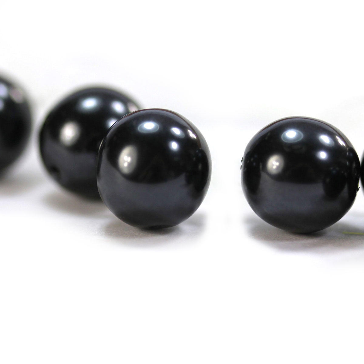The Black Pearl Glass Bead