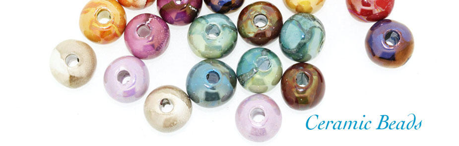 ceramic beads at Bijoux Beads