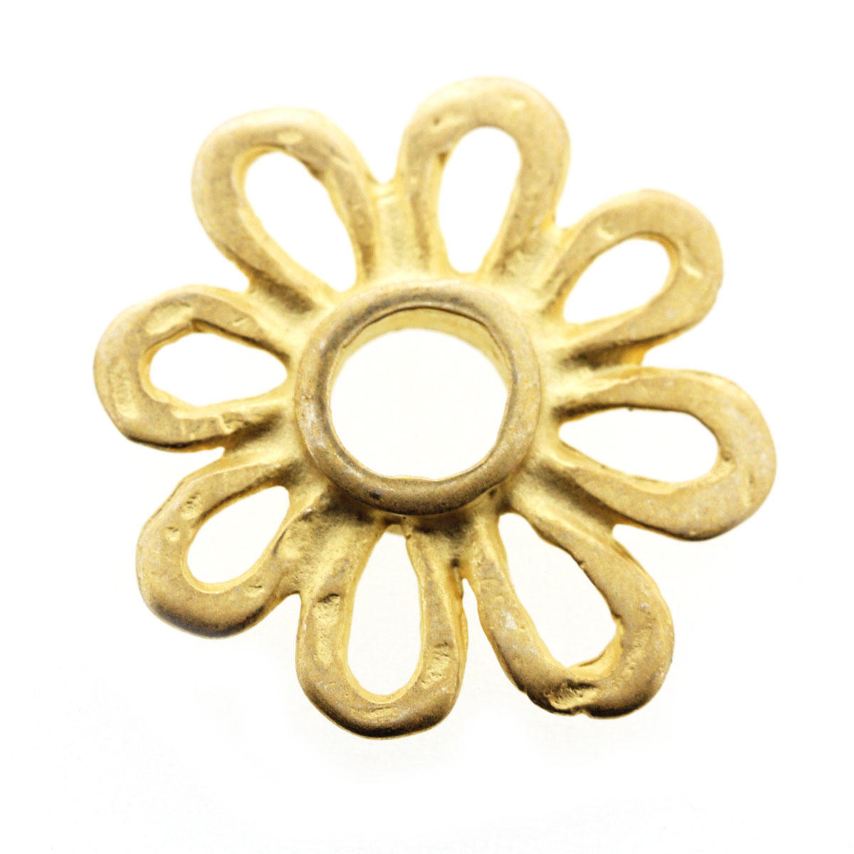 Gold Margarita Daisy Connector Bead