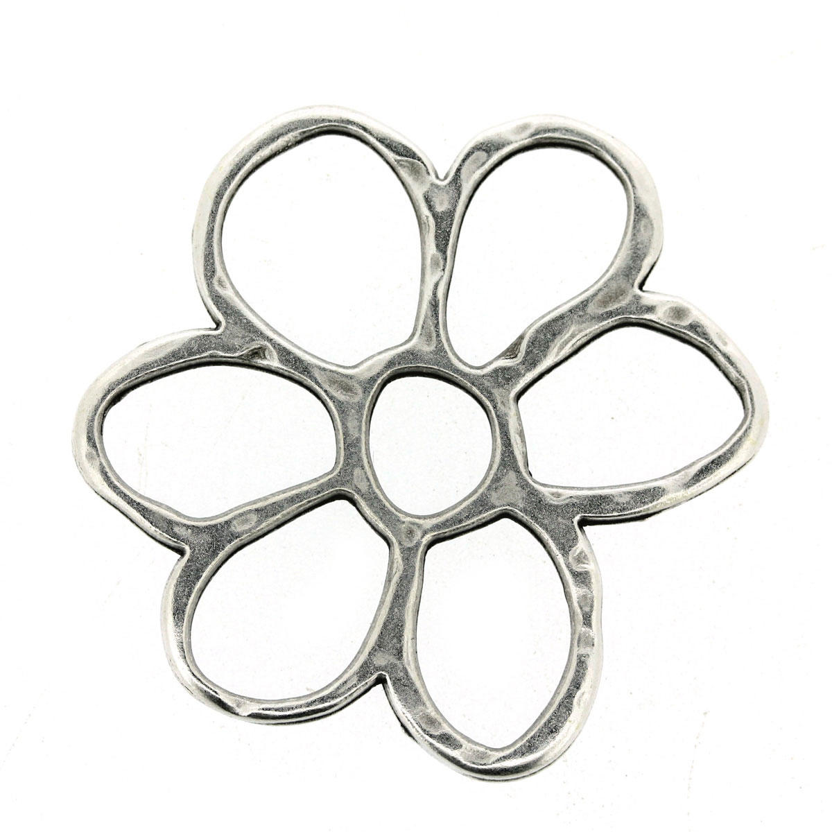 Silver Daisy Flower Connector Charm