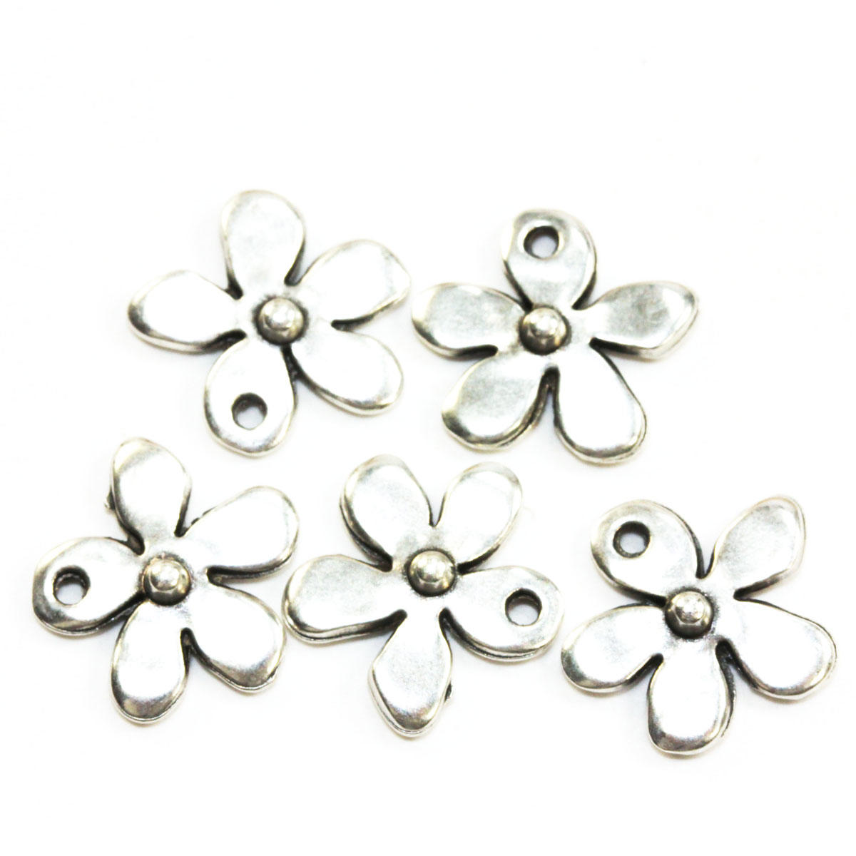 Silver Tiny Flower Charm