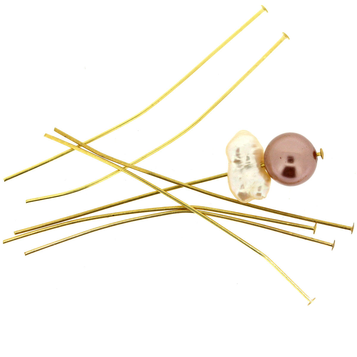 Gold Thin Head-Pin Finding