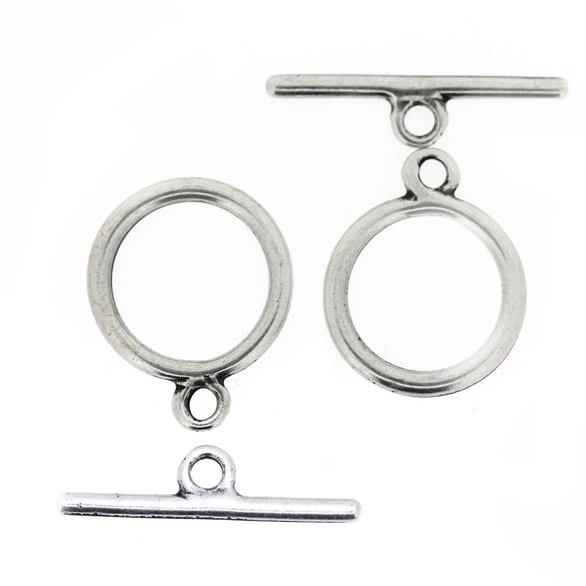 Silver Round Toggle Clasp