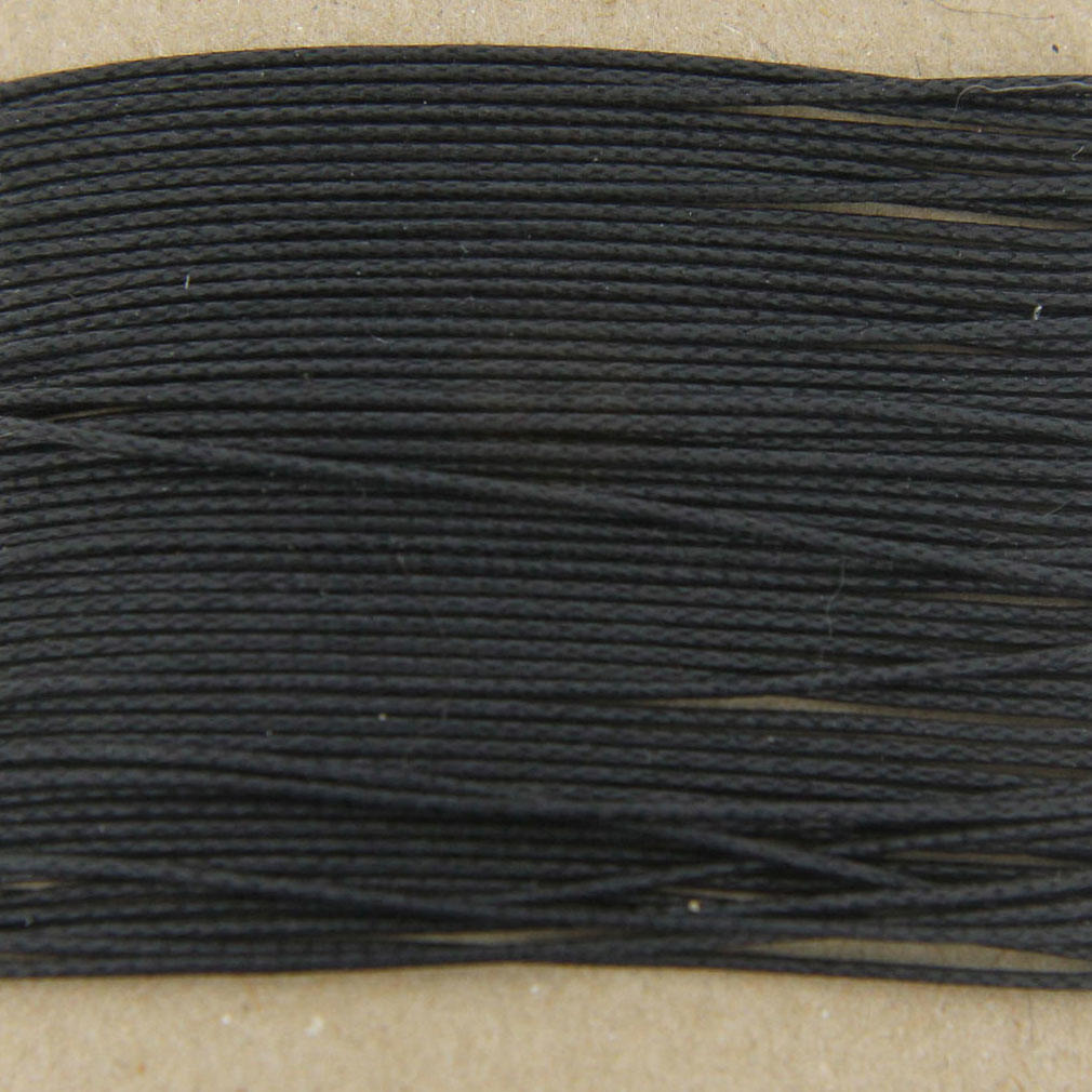 Black Thin 0.7mm Cotton Bead Cord