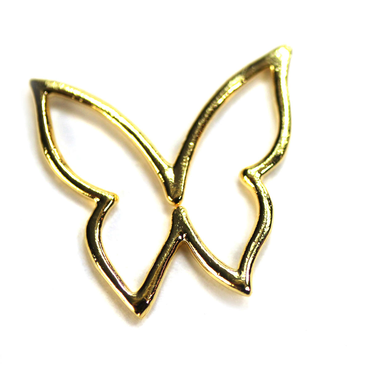 Gold Butterfly Cut Out Fine Charm