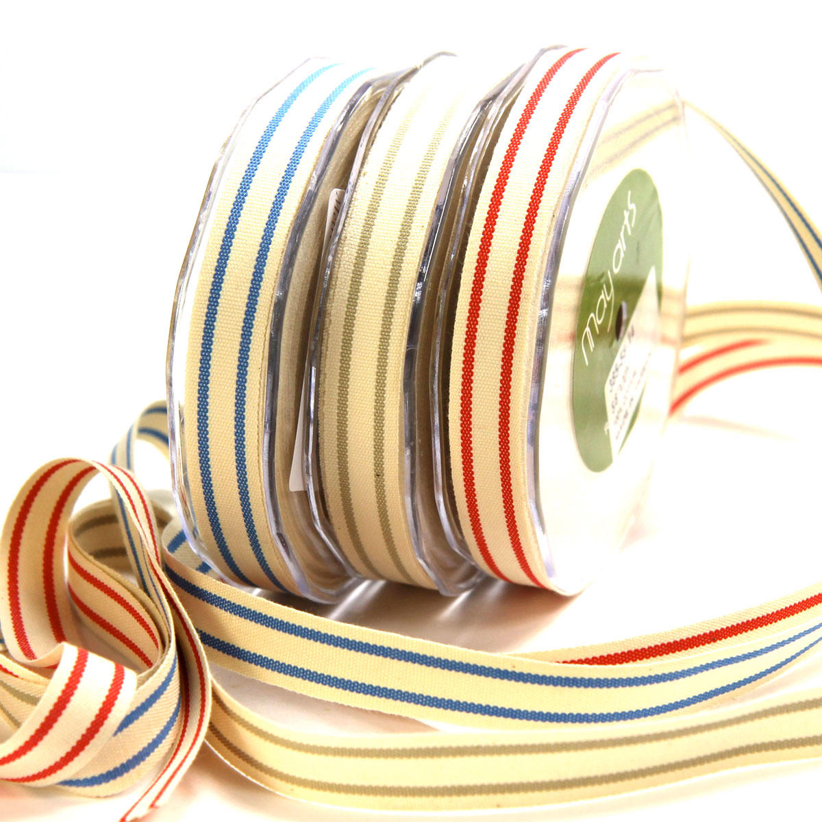 Organic Cotton Stripe Ribbon