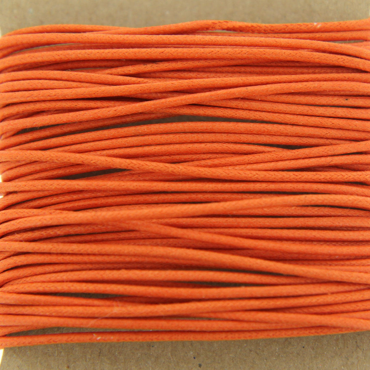 Tangerine thick Cotton Bead Cord 1.3mm