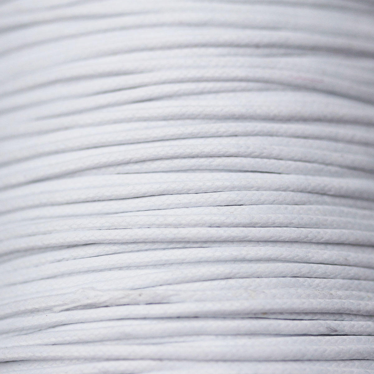 White Thick Cotton Bead Cord 1.5mm