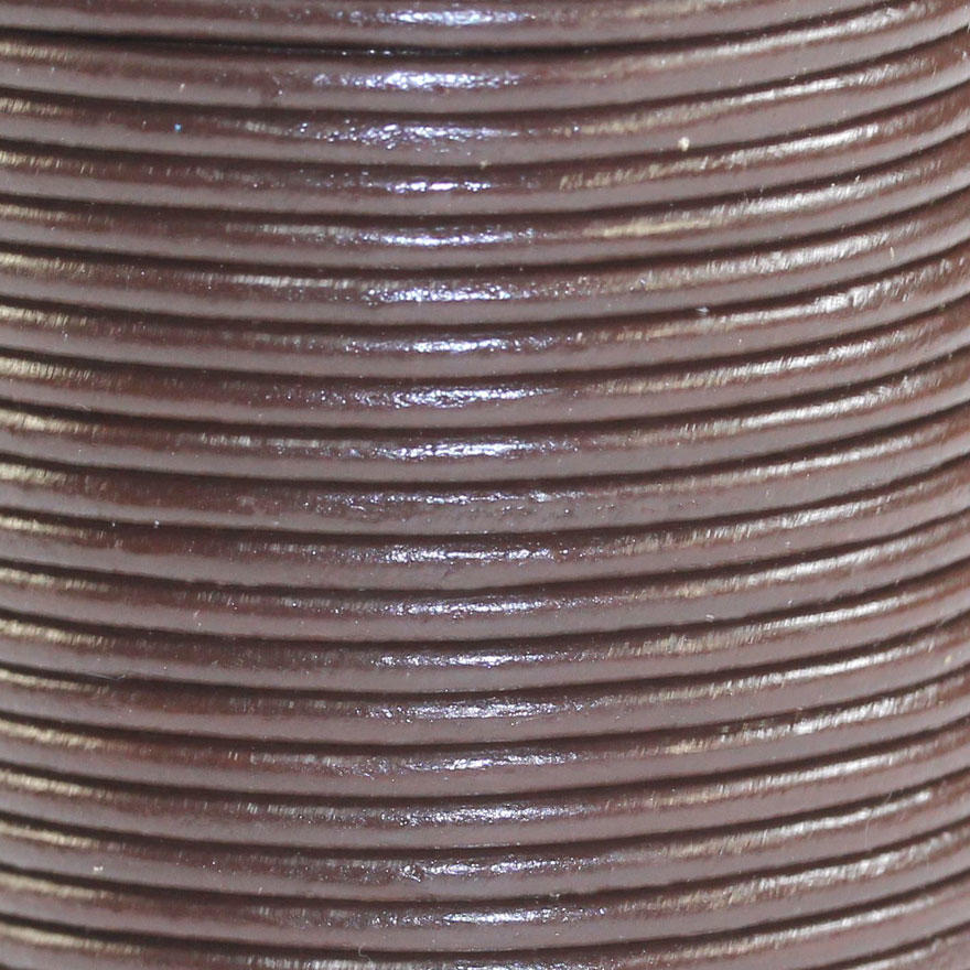 Brown 1.5mm Leather Bead Cord