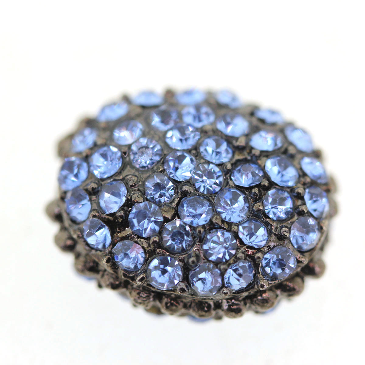Blue Encrusted Rhinestone Bead