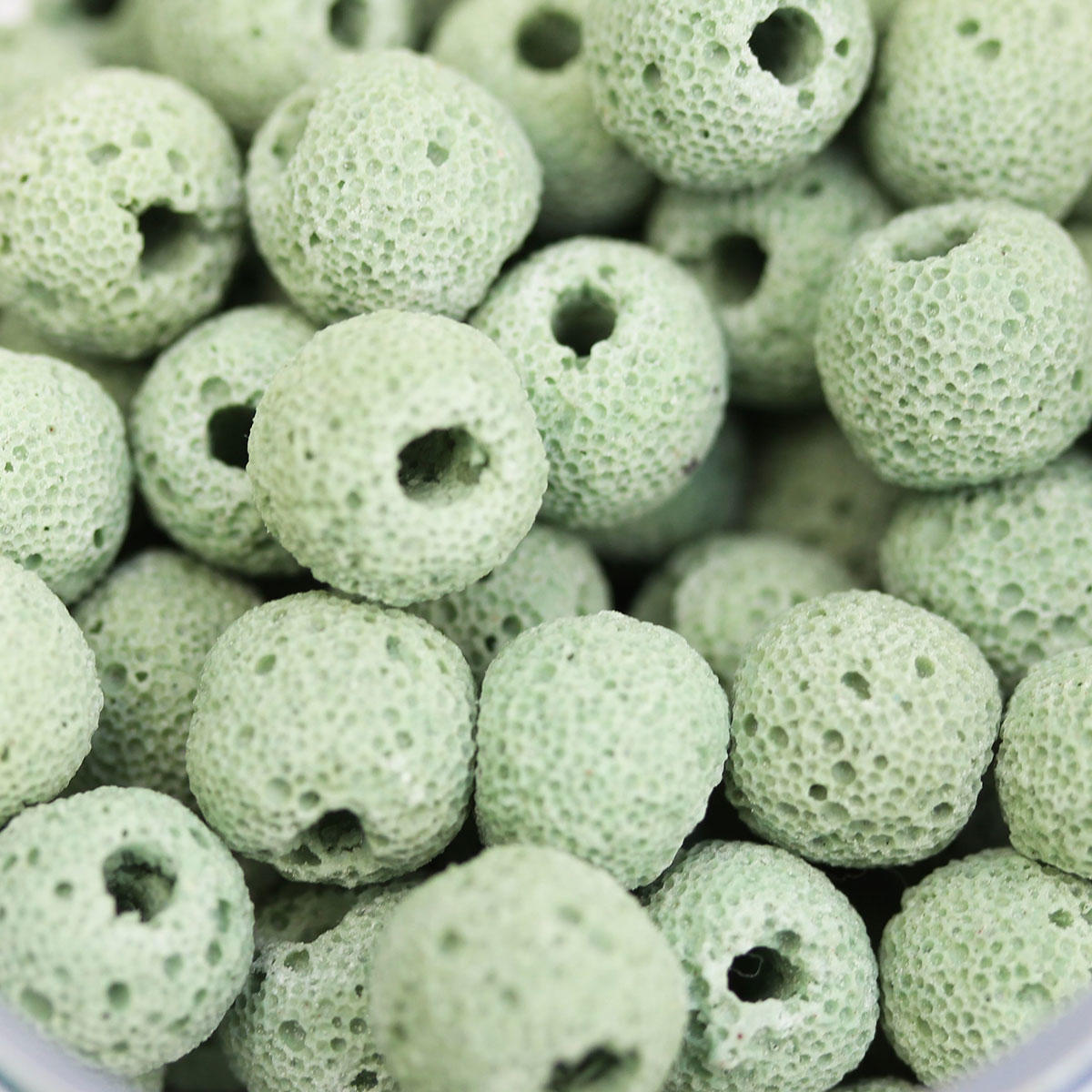 Green 10mm Lava Bead