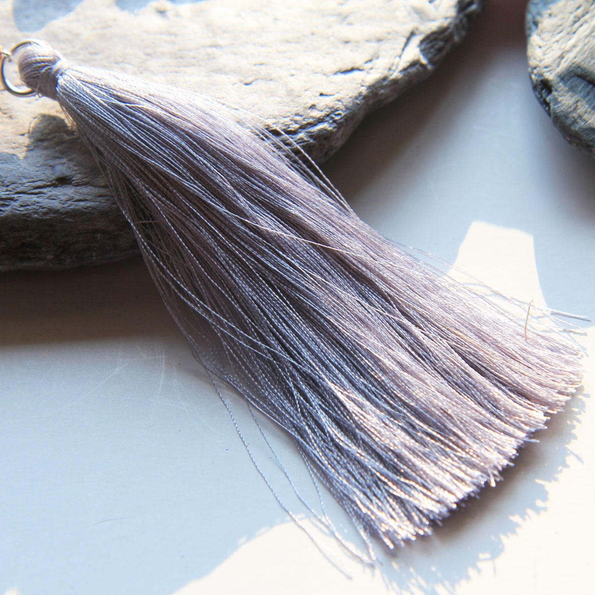 Grey Tassel For Bead Necklaces