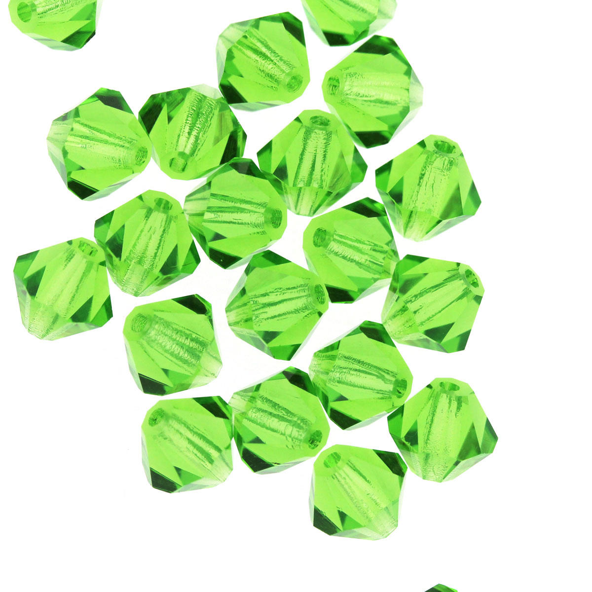 Peridot 6mm Bicone Crystal Bead
