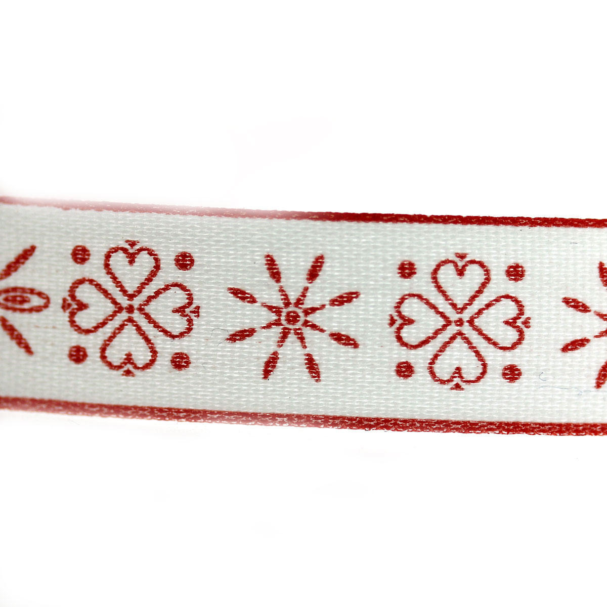 Red Christmas Folk Ribbon