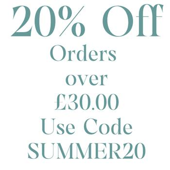20% Off Orders over £30.00