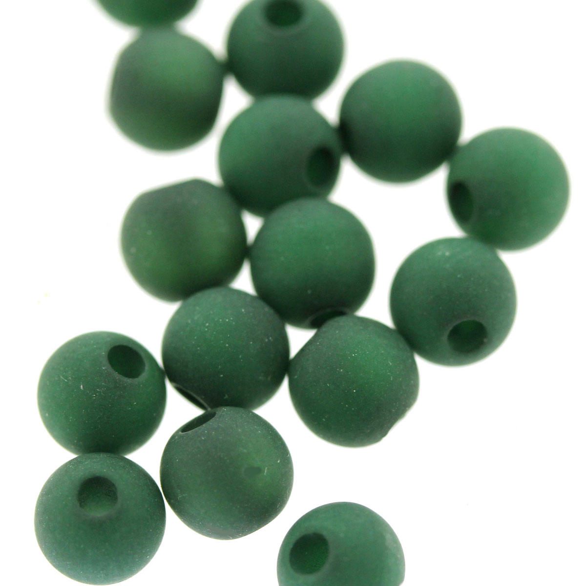 Emerald Green 6mm Polaris Bead
