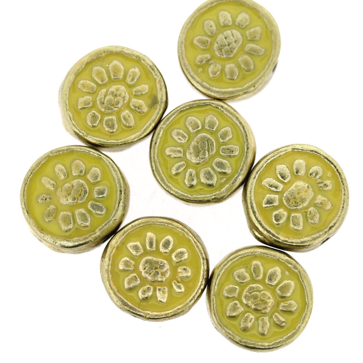 Yellow Bollywood Circle Bead