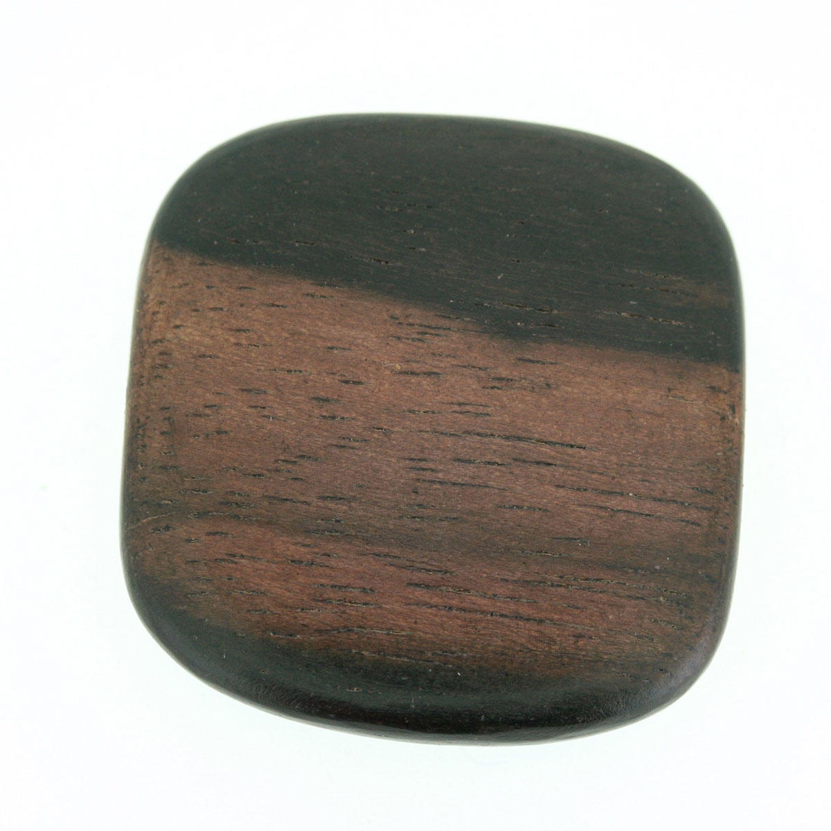 Tiger Ebony Large Square Bead 25mm