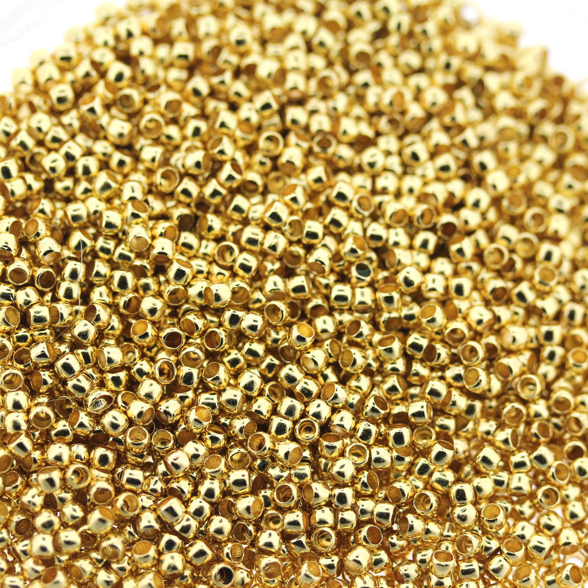 Gold Crimp Beads