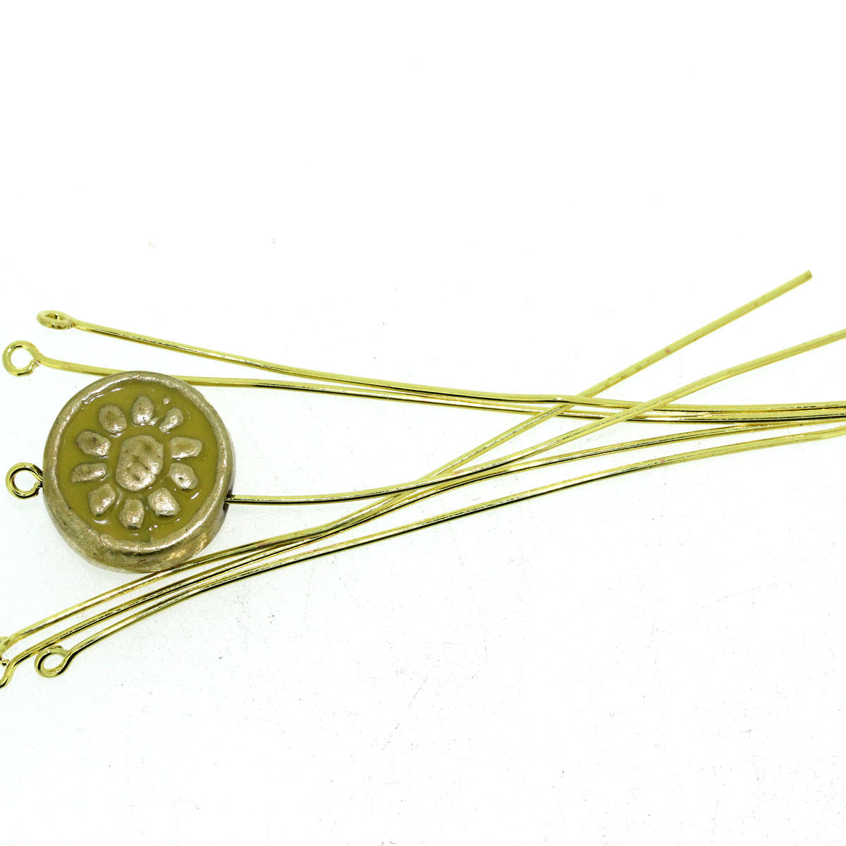 Gold Headpins & Eyepins