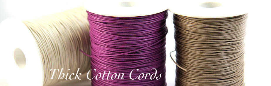 Thick Cotton Cords from Bijoux Beads