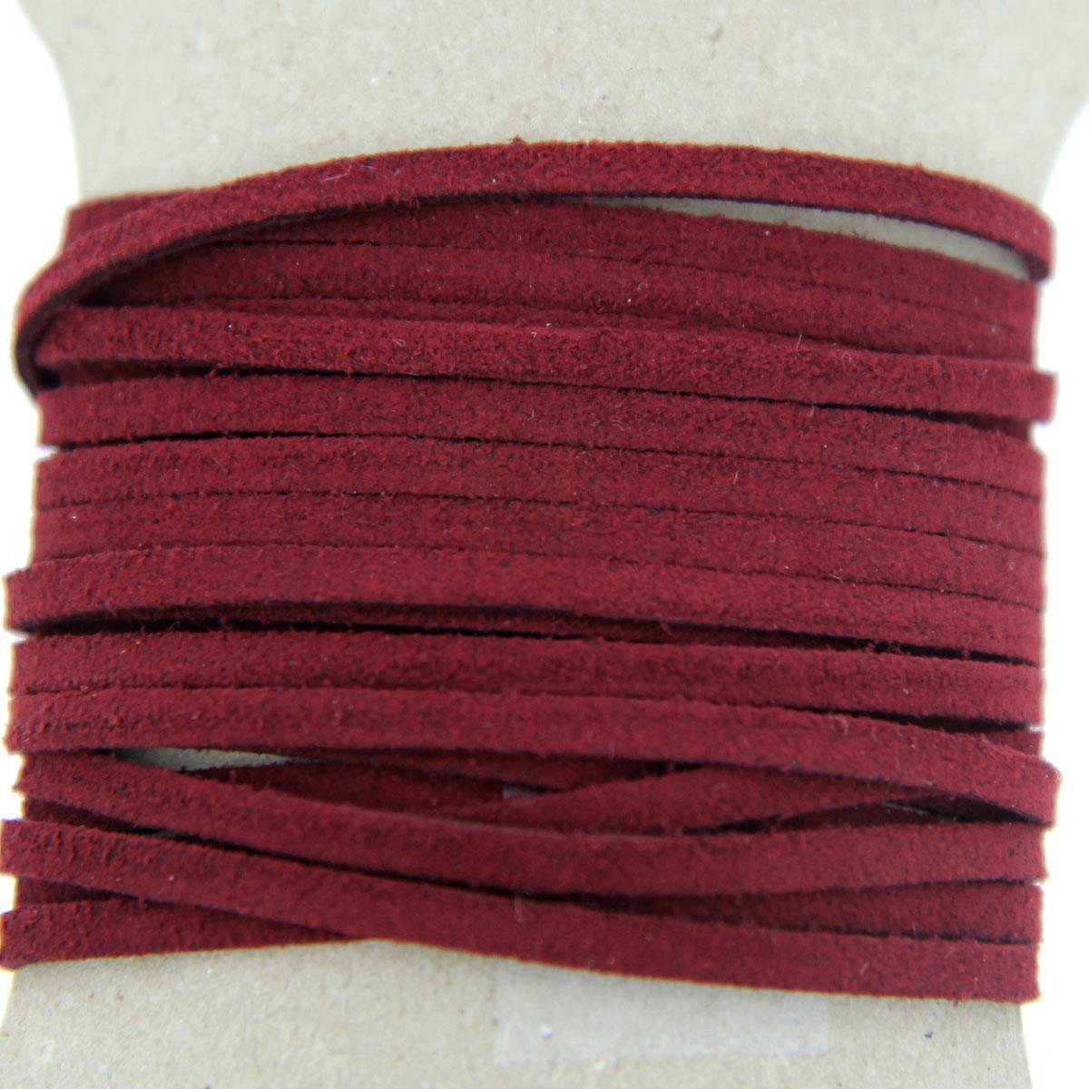 Cranberry Faux Suede Jewellery Cord