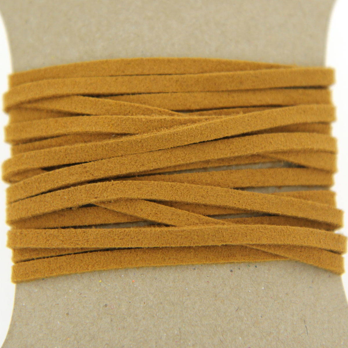 Tan Faux Suede Jewellery Cord