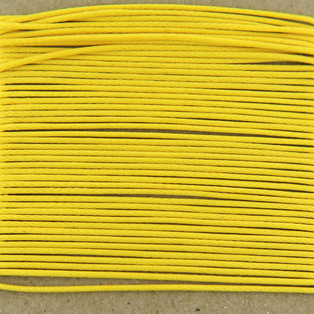 Yellow 0.7mm Cotton Bead Cord