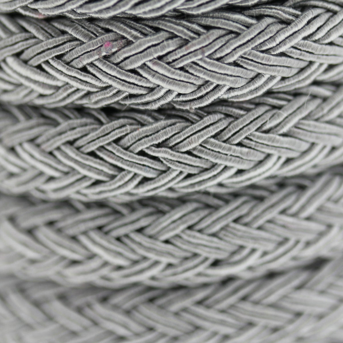 Silver Grey Braided Flat Cord