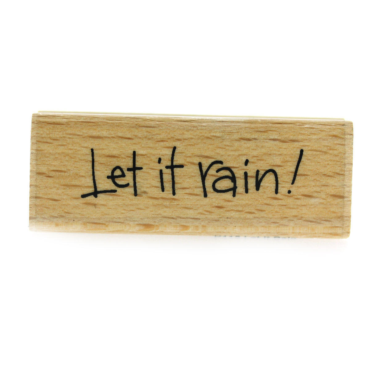 Let It Rain! Rubber Stamp