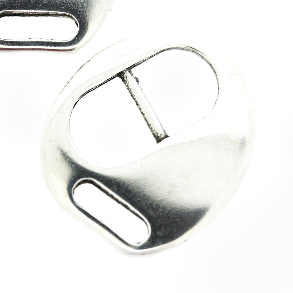 Silver One Piece Tribuckle Clasp