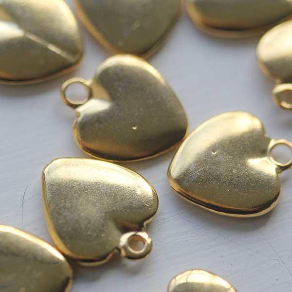 Small Soft Gold Heart Charm
