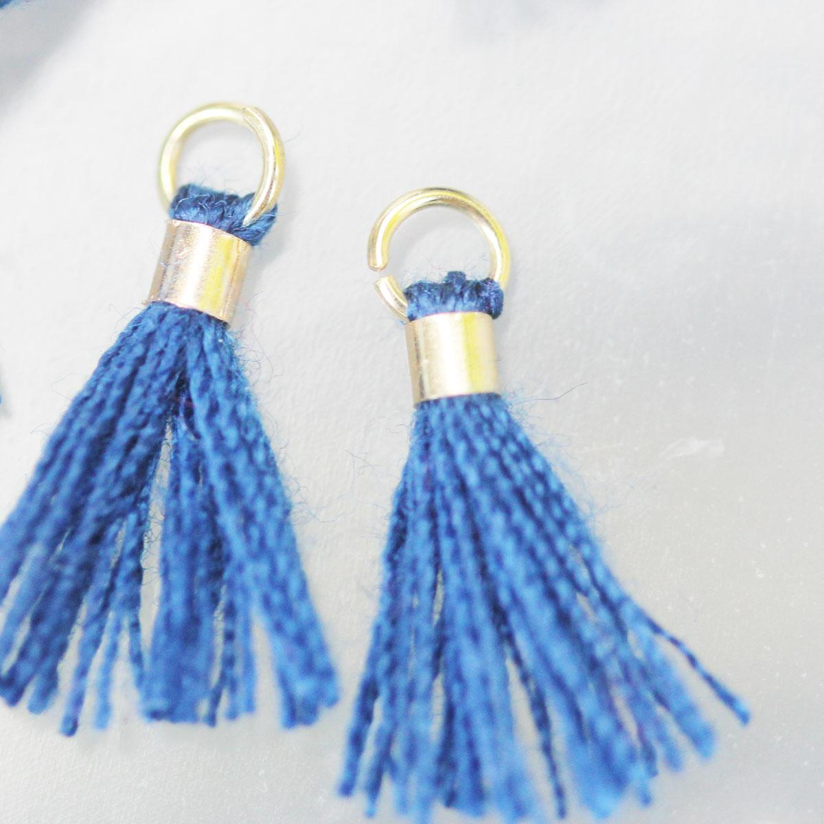 navy tiny tassel