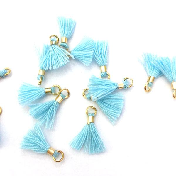 Light Blue Tiny Tassel