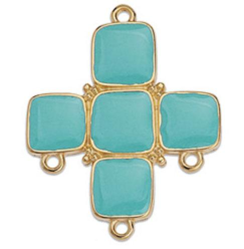 Aqua Cross Enamelled Component