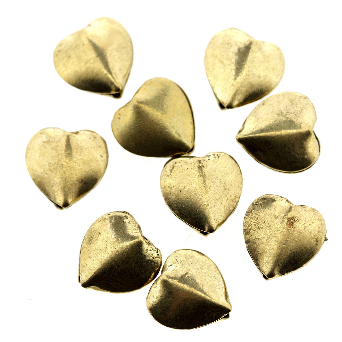 Gold Metal Heart Beads