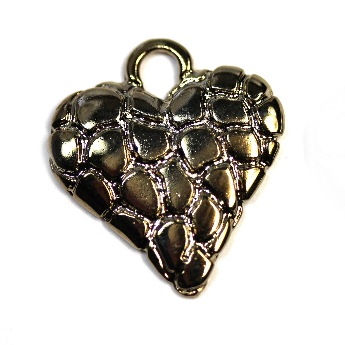 Bronze Tunisian Patchwork Heart