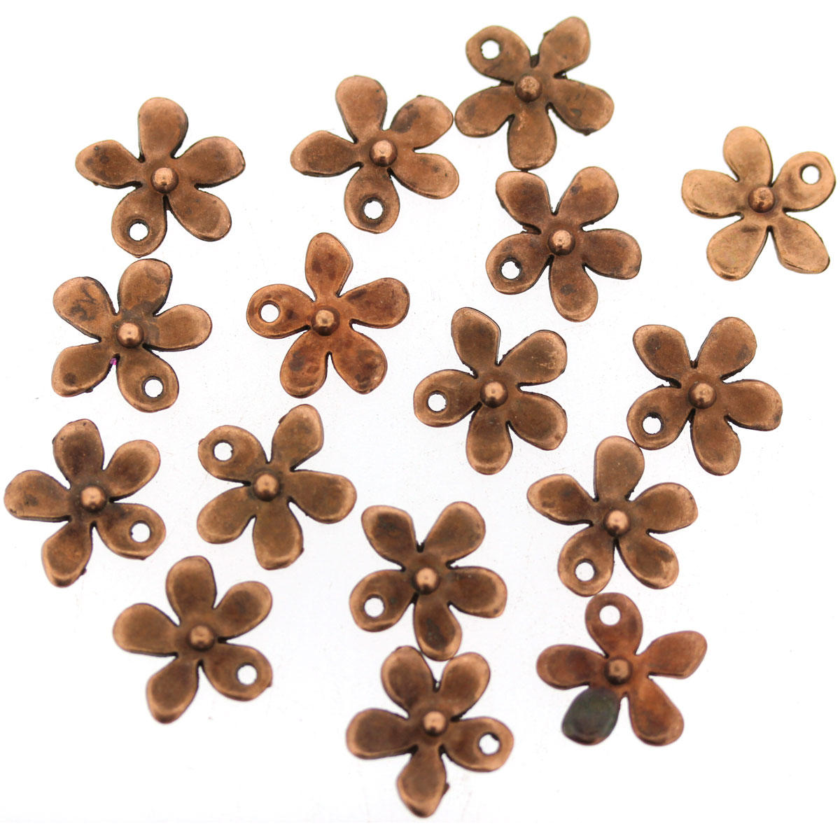 Copper Tiny Flower Charm
