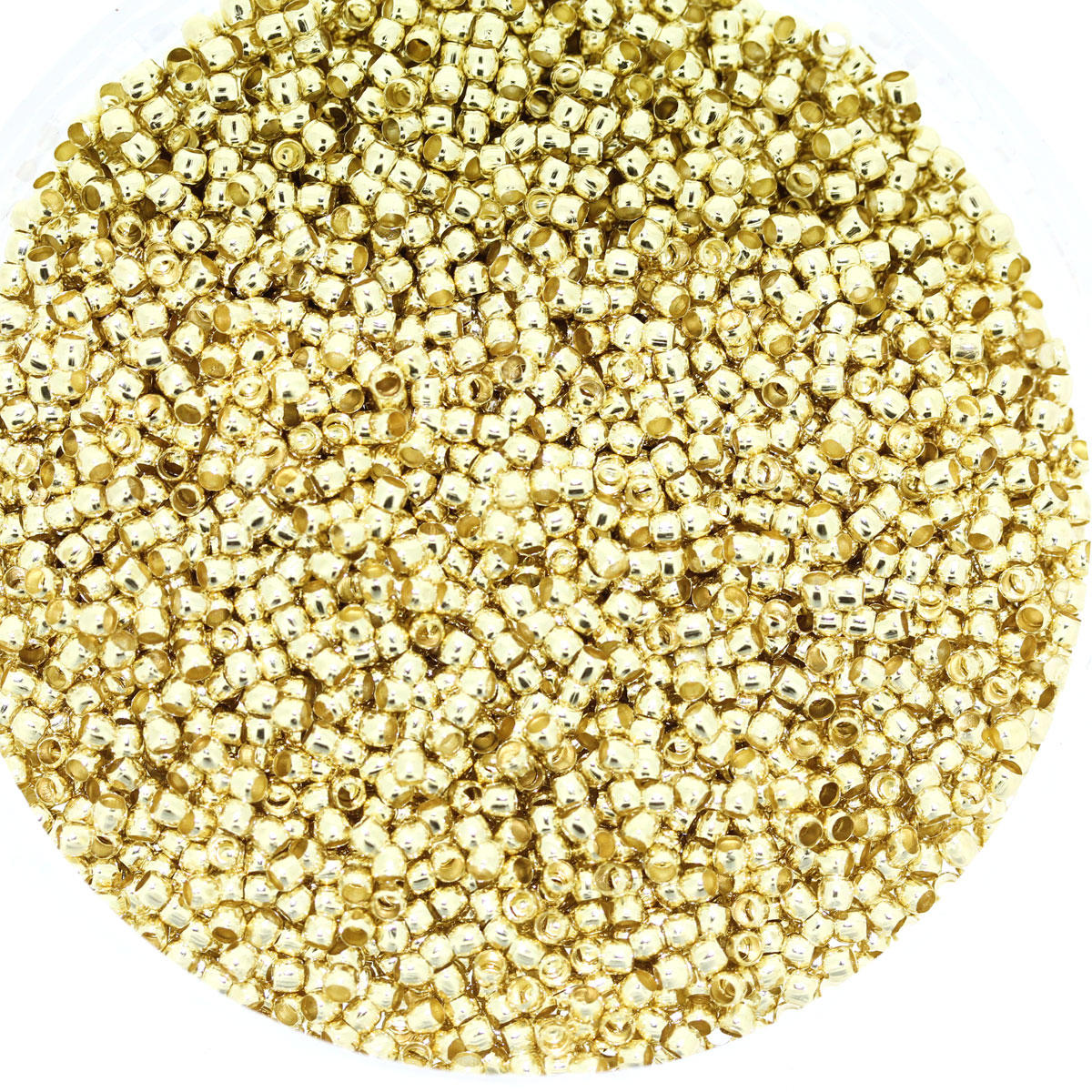 Light Gold Crimp Beads