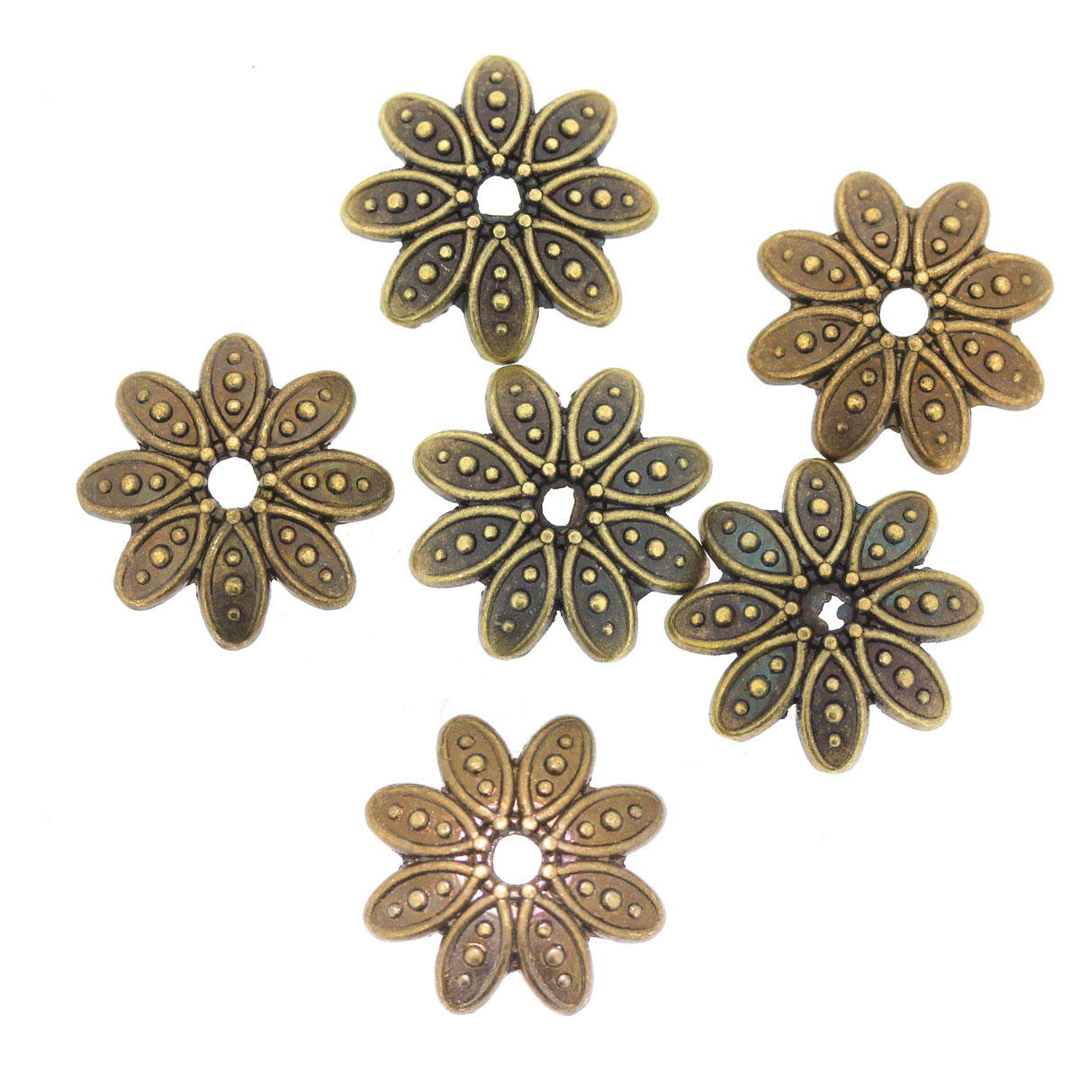 Antique Gold Flower Bead Cap