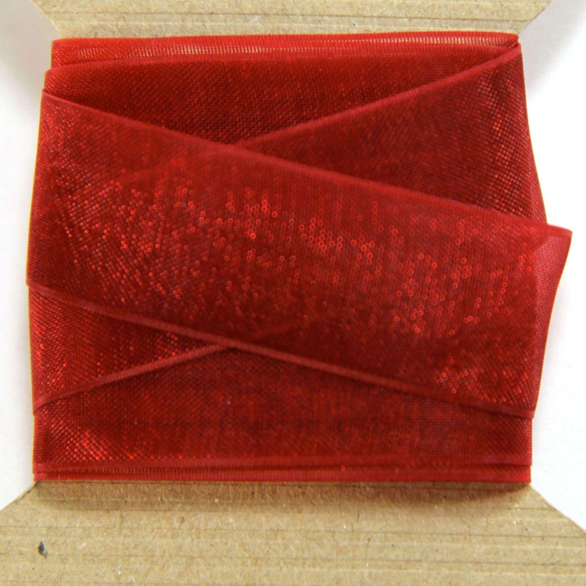 Scarlet Red Organza Ribbon