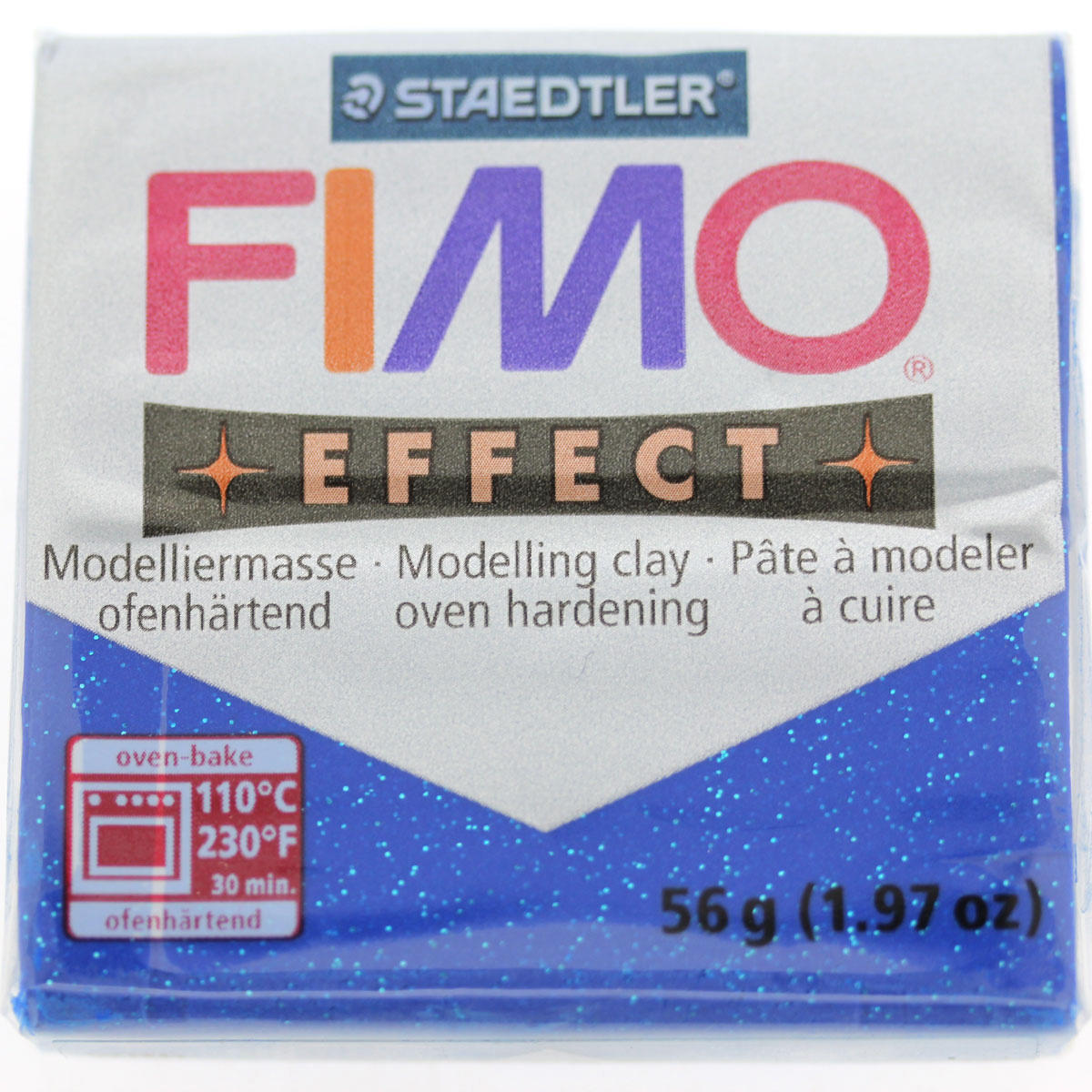 Polymer Clay Fimo Effect/Glitter blue
