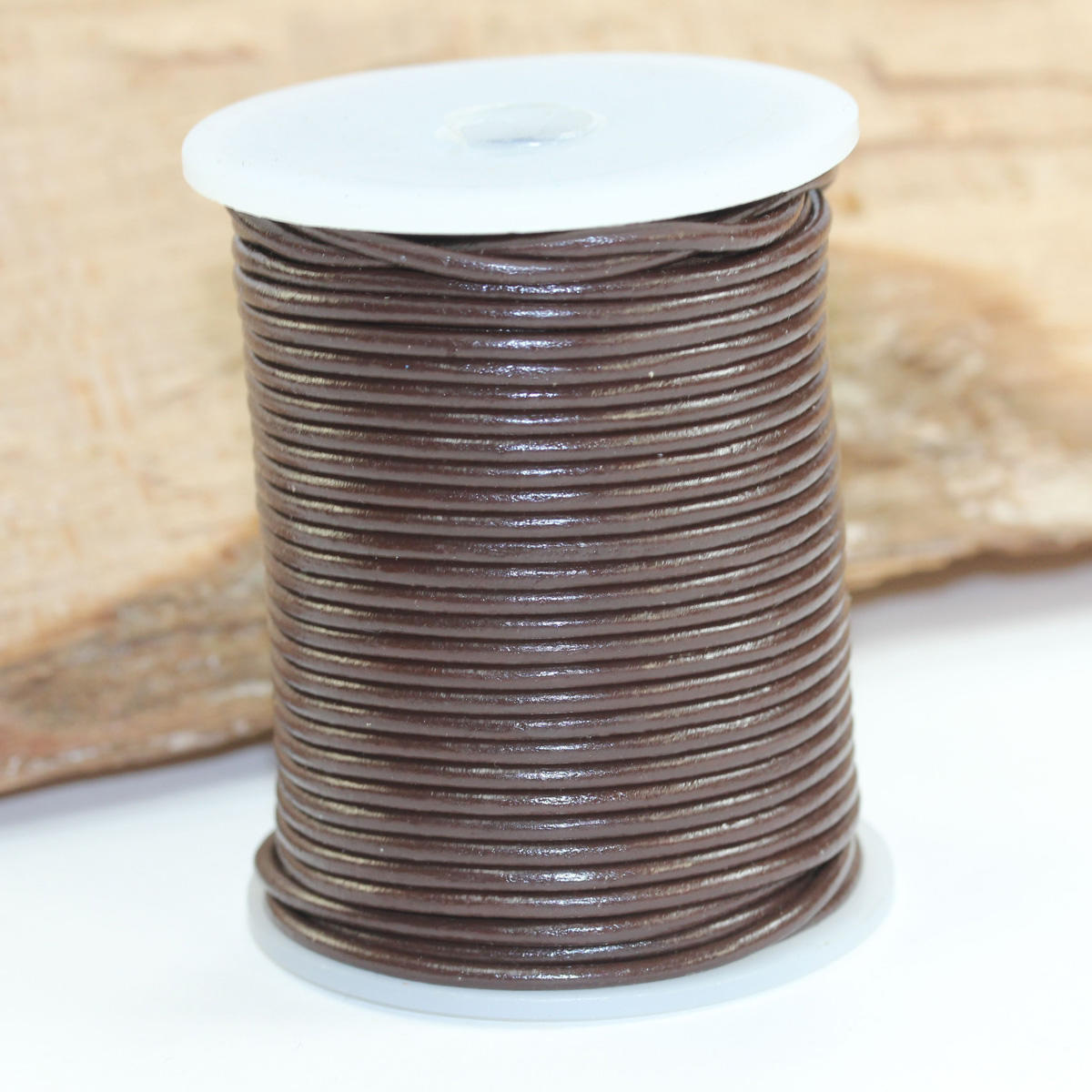 Brown 2mm Leather Jewellery Cord
