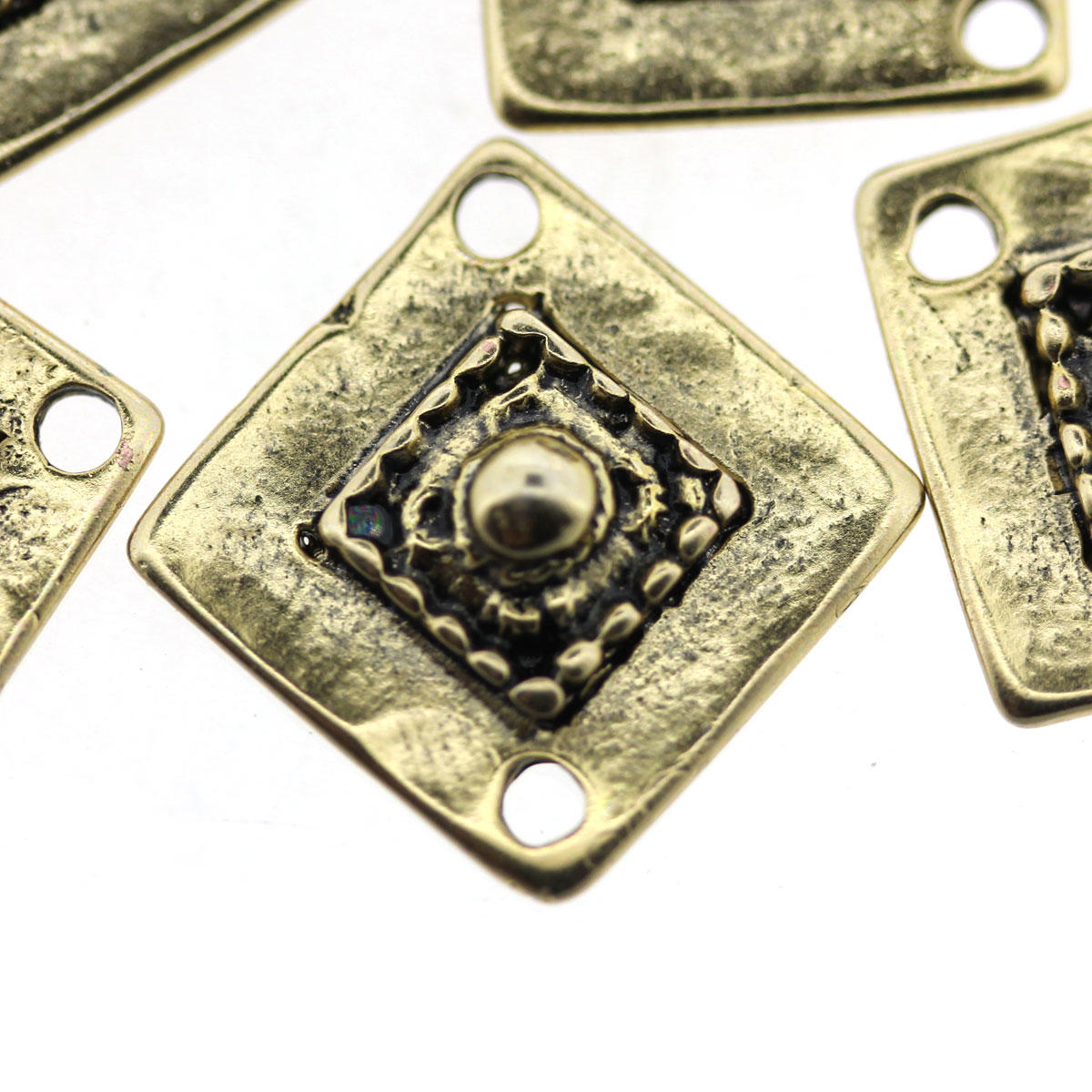 Gold Rhombus Connector Charm