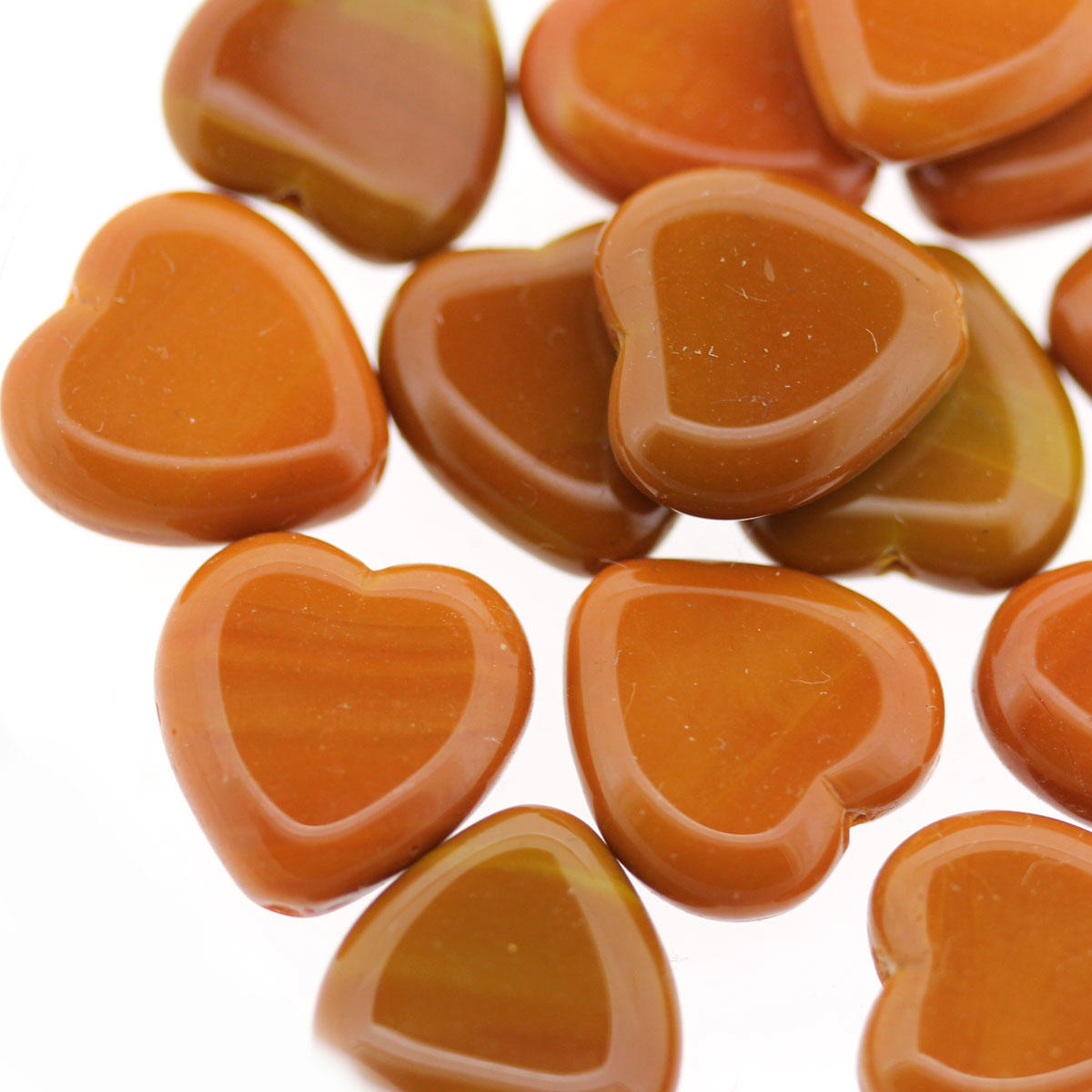 Orangery Glass Heart Bead Mix