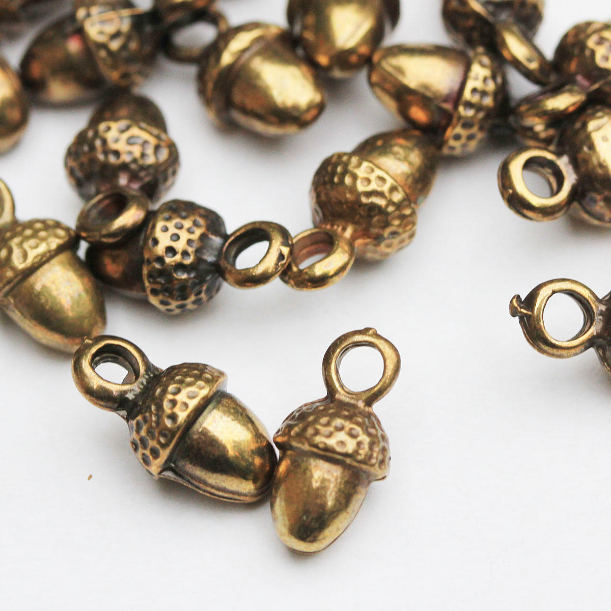 Antique Gold Acorn Charm