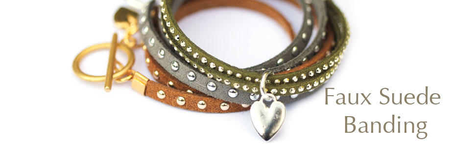 Faux Suede Banding at Bijoux Beads
