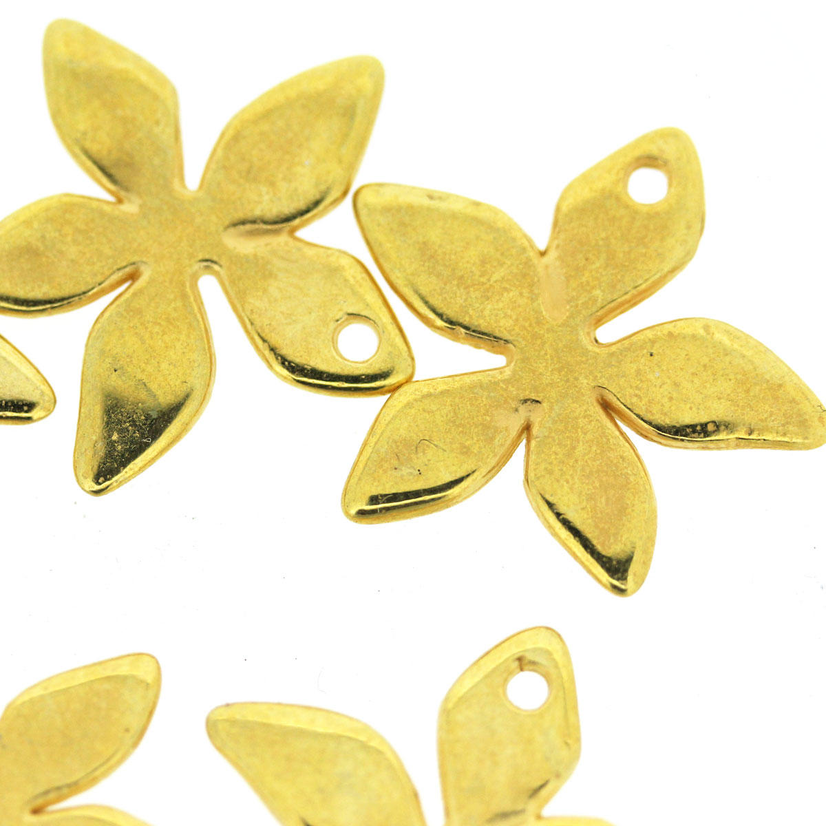 Gold Starflower Charm Bead