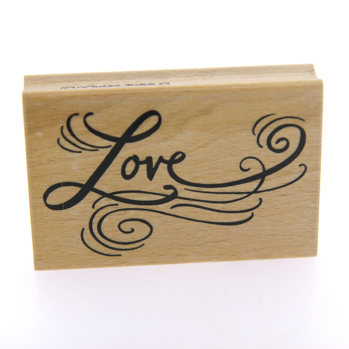 Love Script Large Rubber Stamp