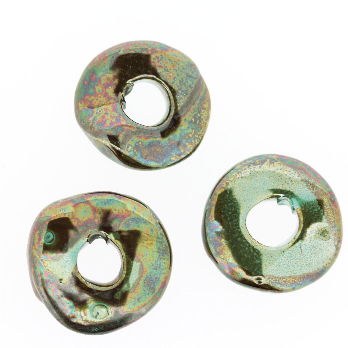 Verdigris Ceramic Polo Bead